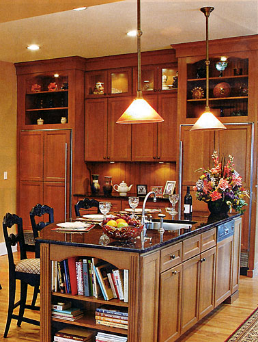 Larger Image - A customer saw a similar kitchen in a magazine and asked us to create it.  This is the result.