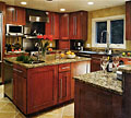 This is not a refacing job but a perfect wooden kitchen that was completely manufactured in our factory