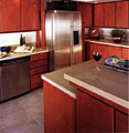 Sometimes we don't need to replace all of your kitchen cabinets.  We can reface the doors and kicks, and add 1 or 2 cabinets to enhance your new kitchen look.