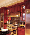 We can add glass doors when refacing your kitchen for a more contemporary look.