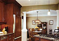 This taller than usual crown moulding enhanced this kitchen.