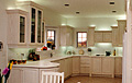We replaced the lower cabinets in this kitchen, and refaced all of the other kitchen cabinets.