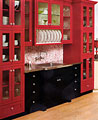 We can reface your kitchen cabinets in red, black, white, blue, green, or any other colours you desire.